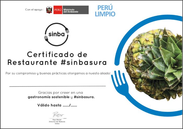 certificado Sinba